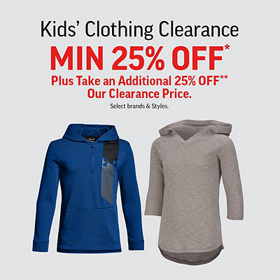 Kids Clothing Clearance Min 25% Off* Plus Take an Additional 25% Off*