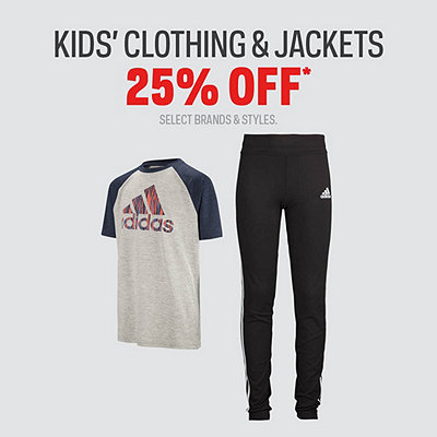 Kids' Clothing & Jackets 25% Off Sale