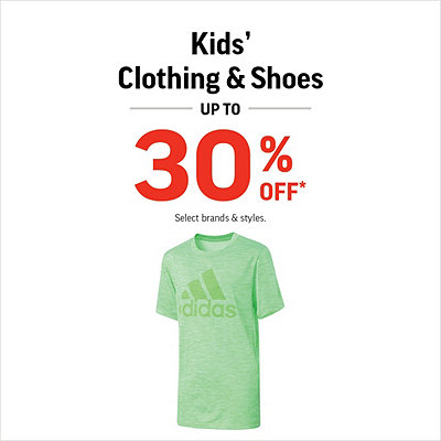 Kids' Clothing & Shoes Up to 30% Off*