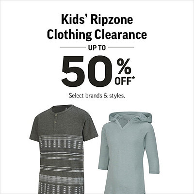 Kids' Ripzone Clothing Clearance Up To 50% Off* Our Original Price
