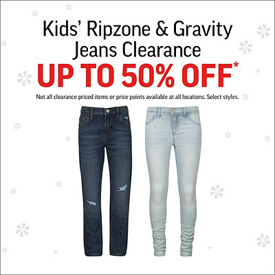 Kids' Ripzone & Gravity Jeans Clearance Up to 50% Off*