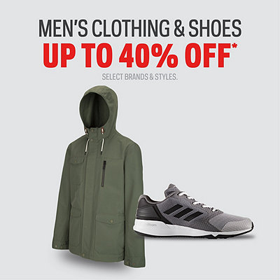 Select Men's Shoes & Clothing up to 40% Off*