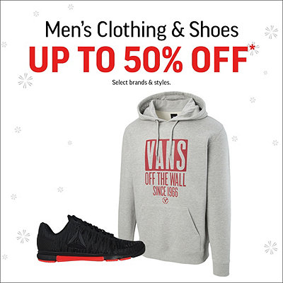 Men's Clothing & Shoes Up to 50% Off*