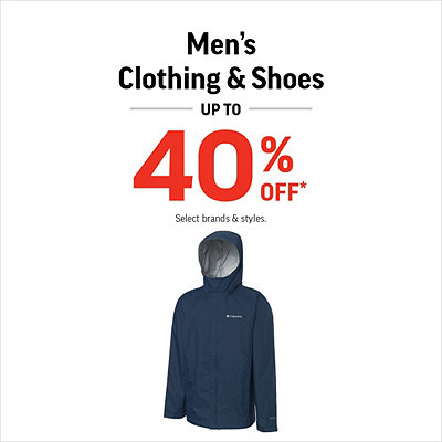 Men's Shoes & Clothing Up to 40% Off*