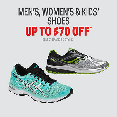 Select Men's, Women's & Kids' Shoes up to $70 Off*