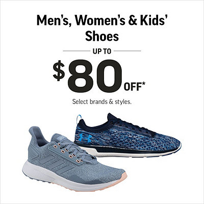 Men's, Women's & Kids' Shoes Up to $80 Off*