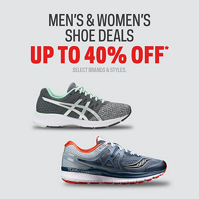 Select Shoes up to 40% Off*