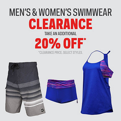 Men's & Women's Swimwear Additional 20% Off* Clearance Price