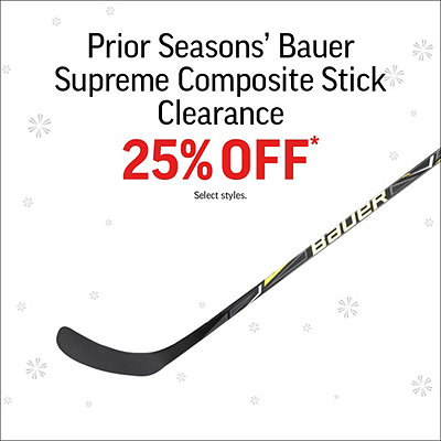 Prior Season's Bauer Supreme Composite Stick Clearance