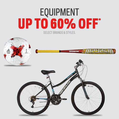 Equipment up to 60% Off