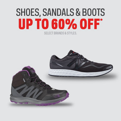 Shoes, Sandals & Boots up to 60% Off