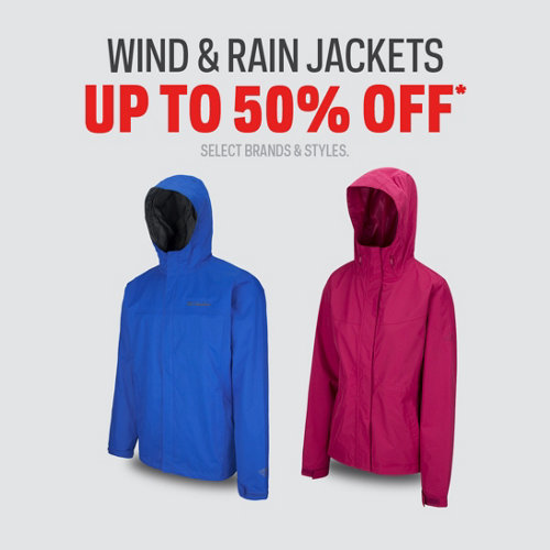 Wind & Rain Jackets up to 50%