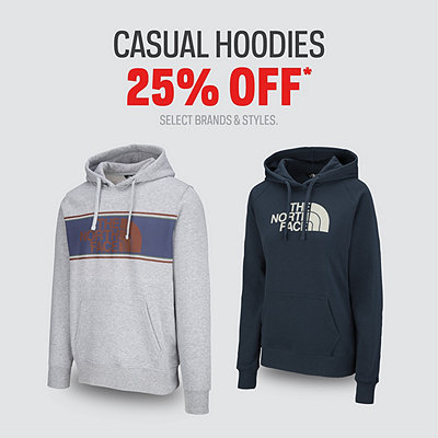 Men's & Women's Select Casual Hoodies 25% Off*