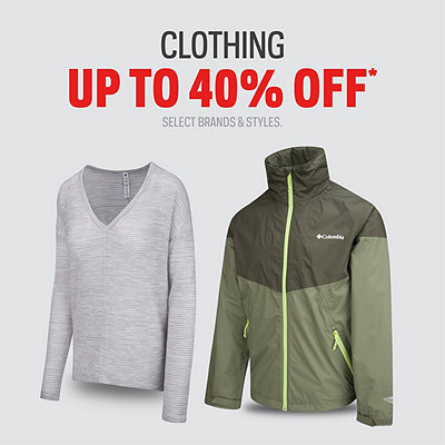 Clothing & Jackets up to 40% Off
