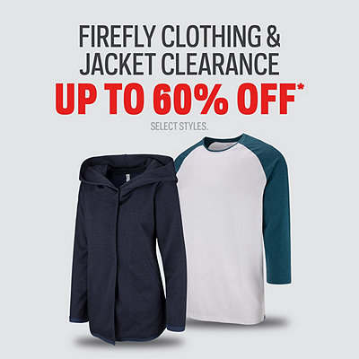 Firefly Clothing & Jacket Clearance Up To 60% Off*