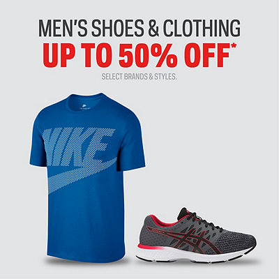 Men's Shoes & Clothing up to 50% Off*