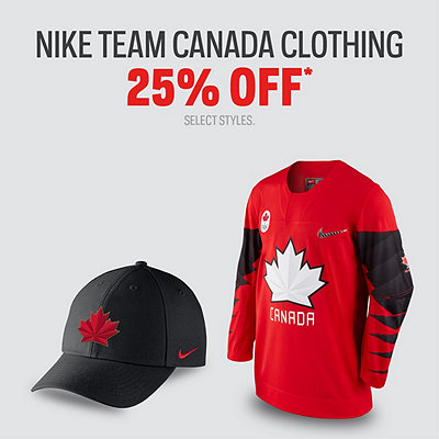 Nike Team Canada Clothing 25% Off*
