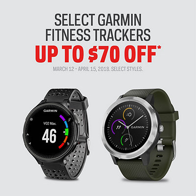 Select Garmin Fitness Trackers Up to $70 Off*