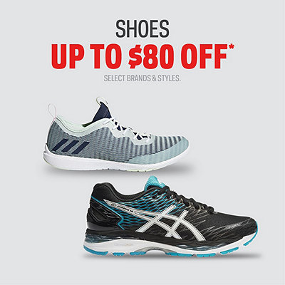 Select Shoes up to $80 Off*