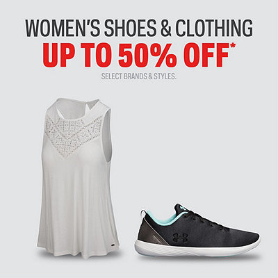 Select Women's Shoes & Clothing up to 50% Off*
