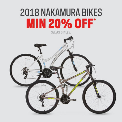 2018 Nakamura Bikes 20% Off* Select Brands & Styles.