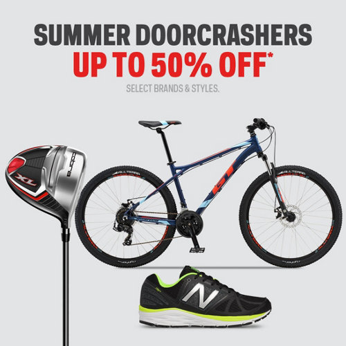 Summer Doorcrashers up to 50% Off* Select Brands & Styles.