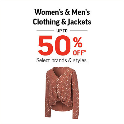 Women's & Men's Clothing & Jackets Up To 50% Off*