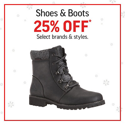 Women's, Men's & Kids' Shoes & Boots 25% Off*