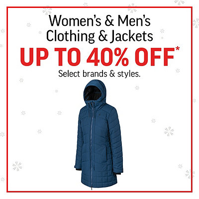 Jackets & Clothing up to 40% Off*