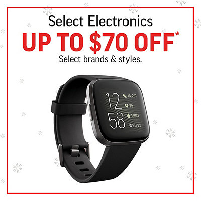 Select Electronics Up To $70 Off*