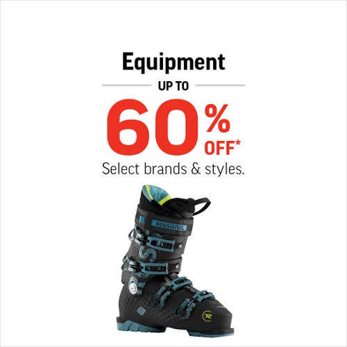 Equipment up to 60% Off* Select Brands and Styles.