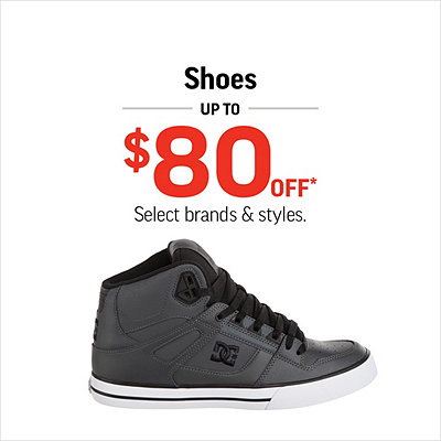 Women's, Men's & Kids' Shoes & Boots Up to $80 Off*