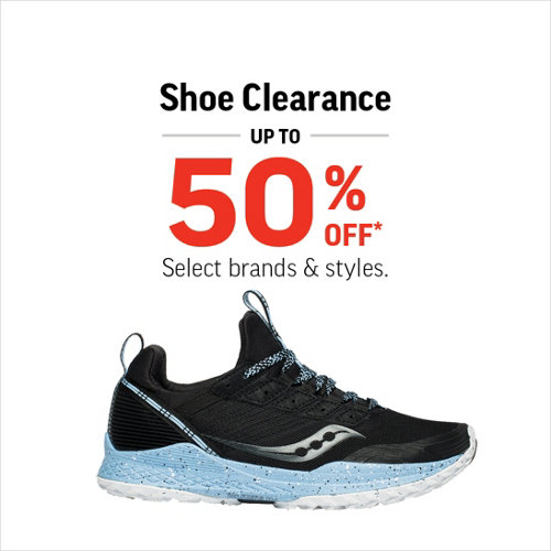 Shoe Clearance Up to 50% Off*