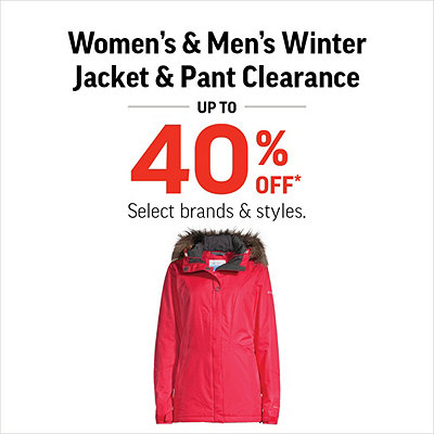 Women's, Men's & Kids' Winter Jacket & Pant Clearance up to 40% Off*