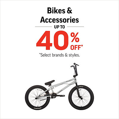 Select Bikes & Accessories up to 40% Off*