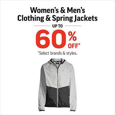 Women's & Men's Clothing & Spring Jackets Up to 60% Off*