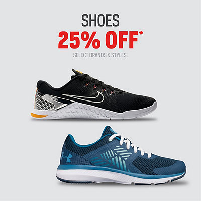 Select Shoes 25% Off*