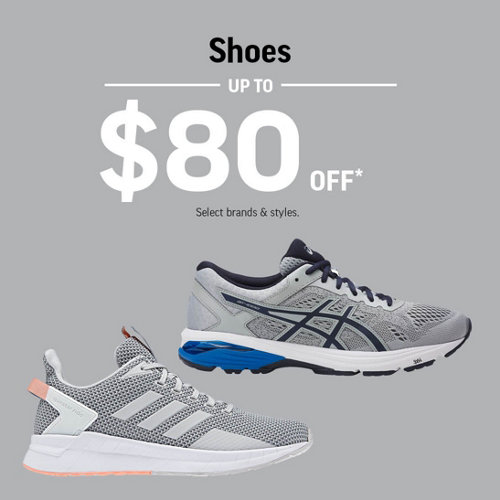 Shoes Up to $80 Off* Select Brands & Styles.