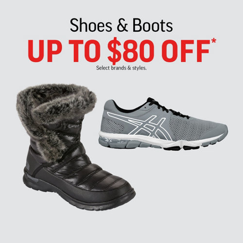 Shoes & Boots Up to $80 Off* Select Brands & Styles.