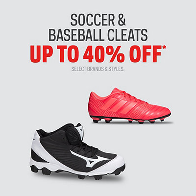 Cleats up to 40% Off*