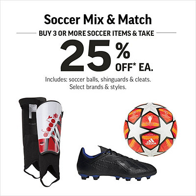 Soccer Mix & Match - Buy 3 Or More Items & Take 25% Off Each