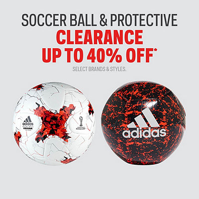 Select Soccer Ball & Gear Clearance Up to 40% Off*