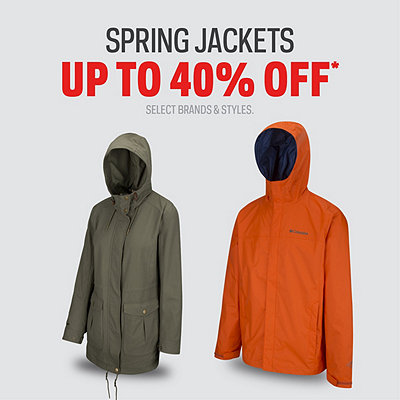 Spring Jackets up to 40% Off*