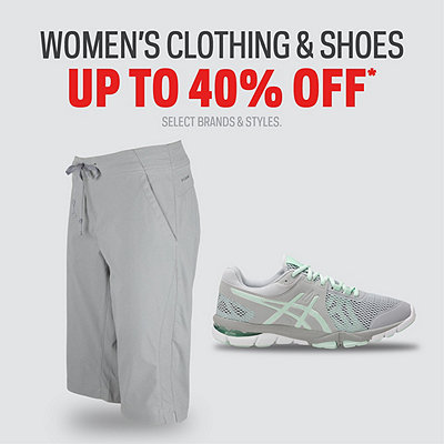 Select Women's Shoes & Clothing up to 40% Off*