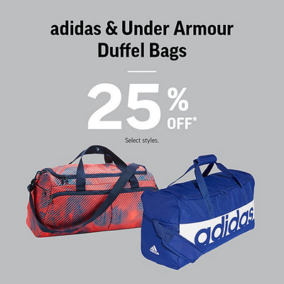 adidas & Under Armour Duffel Bags & Backpacks 25% Off*