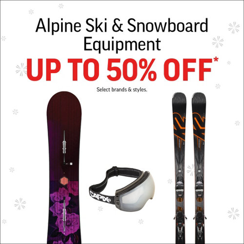 Alpine Ski & Snowboard Equipment Up to 50% Off*