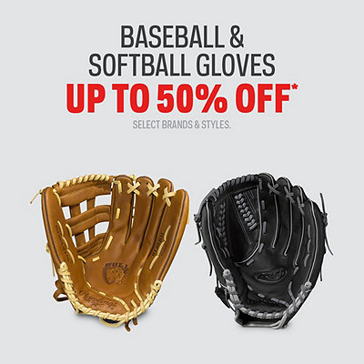 Select Baseball & Softball Gloves Up to 50% Off*
