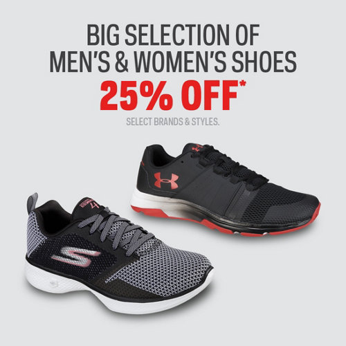 Big Selection of Men's & Women's Shoes 25% Off* Select Brands & Styles.