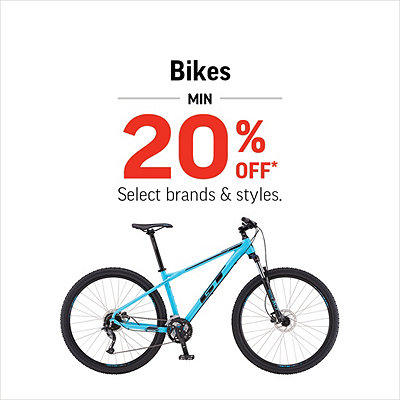 Select Bikes Minimum 20% Off*