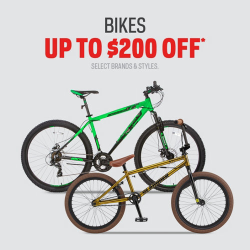 Select Bikes Up To $200 Off*